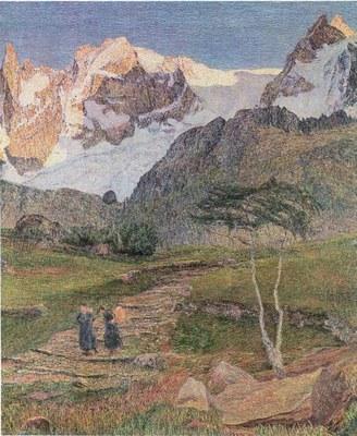 Giovanni Segantini (1858–1899), Alpen-Triptychon: Werden, Detail, 1898–1899, Öl auf Leinwand, St. Moritz, Segantini-Museum http://www.segantini-museum.ch.