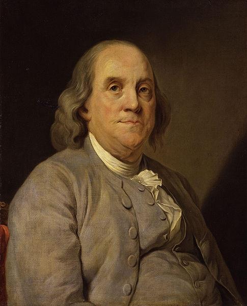 Joseph-Siffred Duplessis (1725–1802), Porträt Benjamin Franklin (1706–1790), Öl auf Leinwand, 1785, Bildquelle: National Portrait Gallery, Smithsonian Institution, http://www.npg.si.edu/exh/brush/ben.htm.
