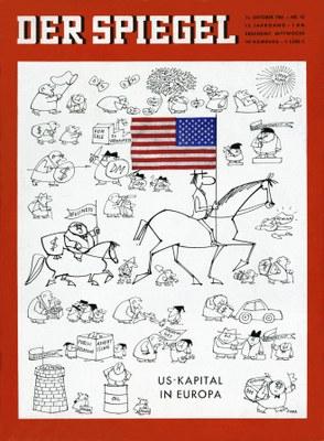DER SPIEGEL 42/1961: US-Kapital in Europa, Titelblatt; Bildquelle: SPIEGEL-Verlag Rudolf Augstein GmbH & Co. KG, http://www.spiegel.de/spiegel/print/index-1961-42.html.