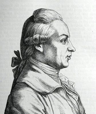 Hugo Bürkner (1818–1897), Portrait Johann Wilhelm von Archenholz (1745–1812), Stich, 1854; Bildquelle: Bechstein, Ludwig: Zweihundert deutsche Männer in Bildnissen und Lebensbeschreibungen, Leipzig 1854, wikimedia commons, http://commons.wikimedia.org/wiki/File:Johann_wilhelm_von_archenholz.jpg.