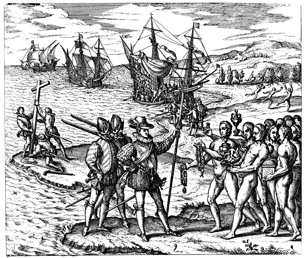 Columbus' Arrival in America 1492 IMG