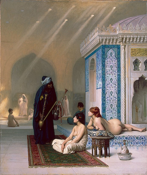 Jean-Léon Gérôme (1824-1904), Une piscine dans le harem (Pool in a Harem), oil on canvass, 73,5 × 62 cm, c. 1876; source: with kind permission of the Eremitage St. Petersburg, © Eremitage St. Petersburg