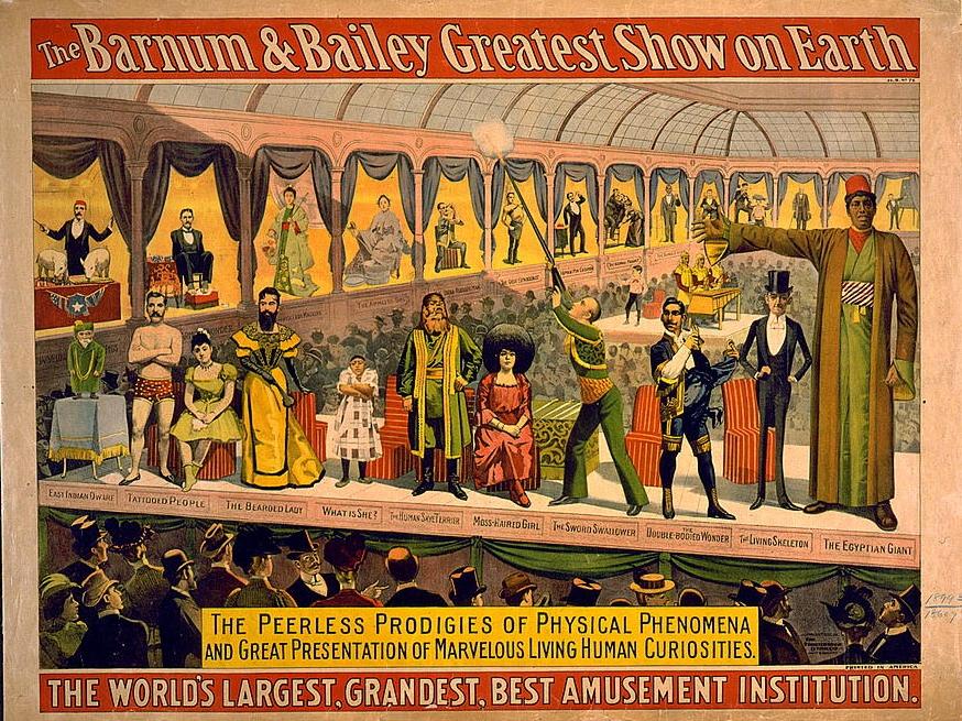 "Poster ""The Barnum & Bailey greatest show on earth"" 1899 IMG"