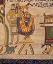 Wilhelm I. von England (1028–1087), Stickerei, 1885, unbekannter Künstler; Bildquelle: Victorian copy of the Bayeux Tapestry, Reading Museum Service, http://www.bayeuxtapestry.org.uk/Index.htm.