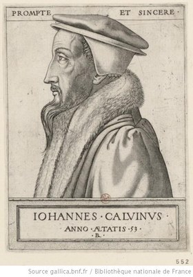 René Boyvin (ca. 1525– ca. 1598), portrait of John Calvin (1509–1564) at the age of 53, engraving, 1562; source: www.gallica.bnf.fr, Permalink: http://catalogue.bnf.fr/ark:/12148/cb41499759x.