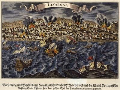 Johann Caspar Pflauntz, Erdbeben zu Lissabon, 1755