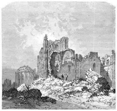 Lissabon nach dem Erdbeben 1755