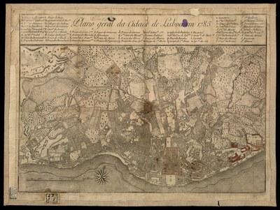 Stadtplan von Lissabon, 1785