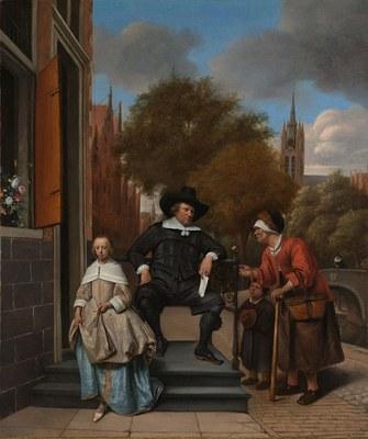 Jan Steen (1625–1679), Adolf und Catharina Croeser an der Oude Delft, Öl auf Leinwand, 82,5 cm x 68,5 cm, 1655; Bildquelle: © Rijksmuseum, Amsterdam.
