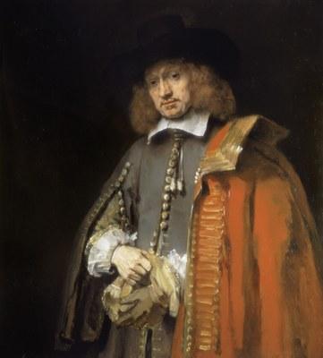 Rembrandt Harmenszoon van Rijn (1606–1669), Portrait von Jan Six (1618–1700), Öl auf Leinwand, 112 × 102 cm, 1654; Bildquelle: © Rijksmuseum, Amsterdam, Sammlung Six.