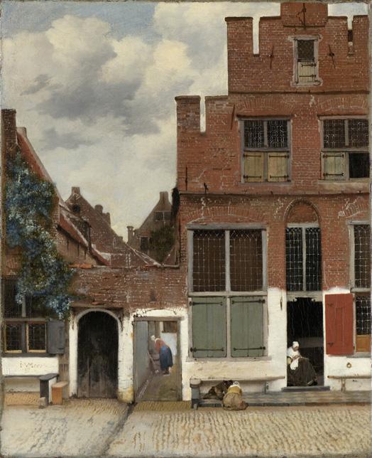 Johannes Vermeer (1632–1675), Die kleine Straße bzw. Straße in Delft, Öl auf Leinwand, 54,3 cm x 44 cm, ca. 1658; Bildquelle: © Rijksmuseum, Amsterdam.