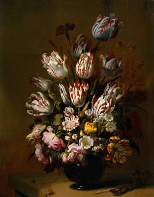 Hans Boulenger (ca. 1600–nach 1645), Tulpen in einer Vase, Öl auf Holz, 68 cm x 54,5 cm, 1639; Bildquelle: © Rijksmuseum, Amsterdam.