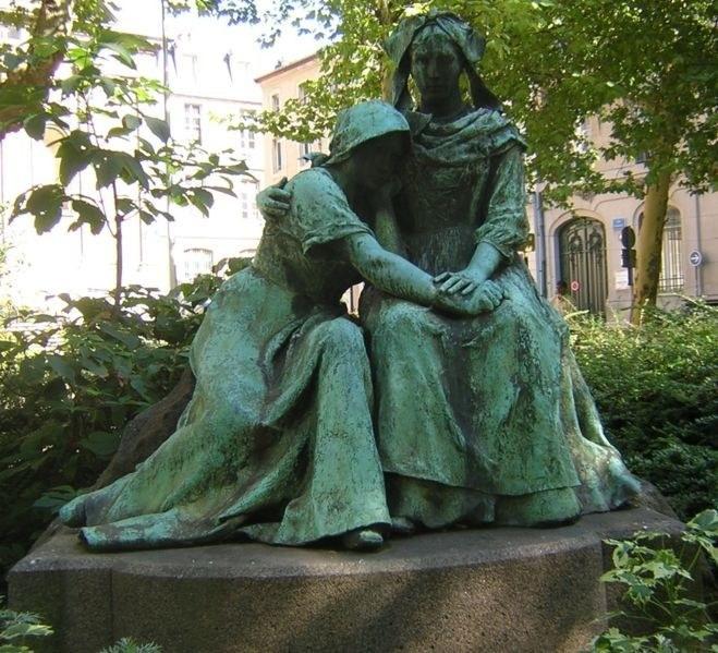 Le souvenir ou La Lorraine pleurant sur l'épaule de l'Alsace