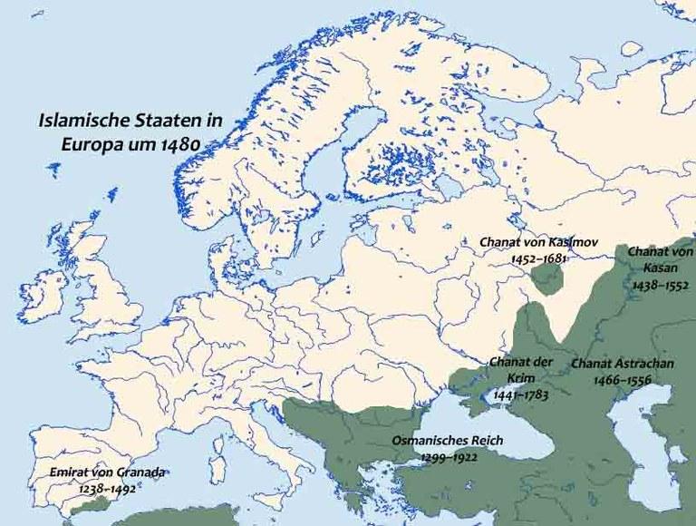 Islamische Staaten in Europa um 1480 IMG