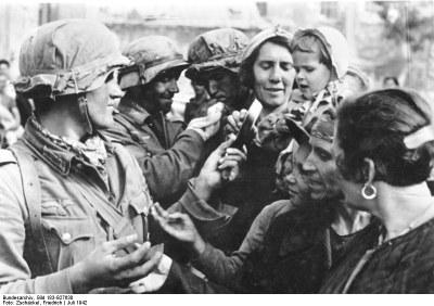 Deutsche Soldaten in Sewastopol, Krim, 1942