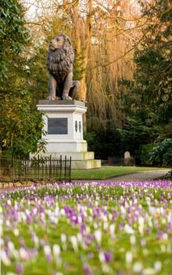 Idstedt-Löwe auf dem Alten Friedhof in Flensburg