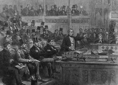 Lord Palmerston making the Ministerial Statement on Dano-German Affairs in the House of Commons IMG