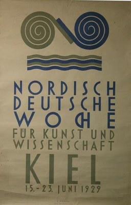 Plakat zur Nordisch-Deutschen-Woche 1929 in Kiel  IMG
