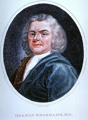 J. Chapman, Portrait of Herman Boerhaave (1668–1738), 1798; source: U.S. National Library of Medicine, http://ihm.nlm.nih.gov/luna/servlet/view/search?q=B029694.