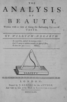 William Hogarth (1697–1764), The Analysis of Beauty, London 1753, Titelblatt; Bildquelle: Zentralinstitut für Kunstgeschichte, München.
