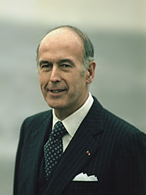 White House Staff Photographers (01/20/1977–01/20/1981), Valéry Giscard d'Estaing (*1926), Farbphotographie (Ausschnitt), 5. Januar 1978; Bildquelle:  http://commons.wikimedia.org/wiki/File:Val%C3%A9ry_Giscard_d%E2%80%99Estaing_1978.jpg?uselang=de, Creative Commons Attribution ShareAlike 3.0 Germany.