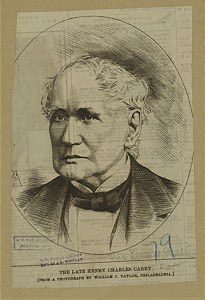 Henry Charles Carey (1793–1879), engraving, after a photograph by William C. Taylor, undated; source: New York Public Library, ID: 1206986. http://digitalgallery.nypl.org/nypldigital/id?1206986