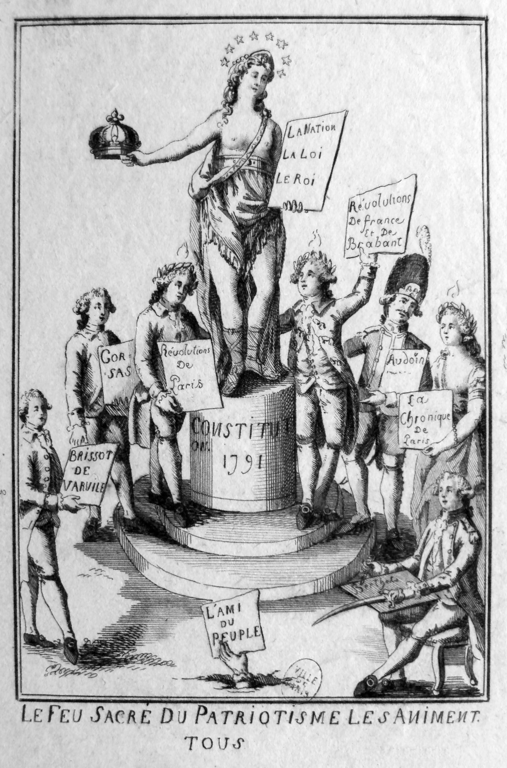 """Das heilige Feuer des Patriotismus"" 1791 IMG"