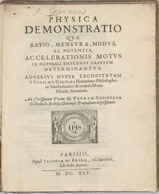 Physica Demonstratio, Titelseite, 1645