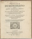 Physica Demonstratio, Titelseite, 1645