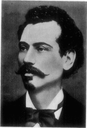 Portrait von Perez Smolenskin (1842–1885), 1913, unbekannter Künstler; Bildquelle: Raisin, Jacob S.: The Haskalah Movement in Russia, Philadelphia 1913, S. 222. Digitalisiert von: Project Gutenberg, http://www.gutenberg.org/files/15921/15921-h/15921-h.htm.