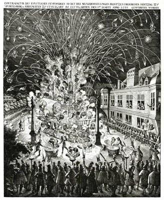 Feuerwerk anlässlich der Taufe von Herzog Friedrich zu Württemberg-Neuenstadt 1616 IMG