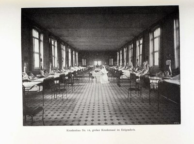 Krankenbau Nr. 12, großer Krankensaal im Erdgeschoss IMG