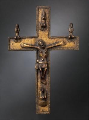 Kruzifix (Kongo-Völker), Messing, frühes 17. Jahrhundert; Bildquelle: © Bildagentur für Kunst Kultur und Geschichte (bpk) | MMA, Bildnummer: 00087662, Standort des Originals: The Metropolitan Museum of Art, New York.