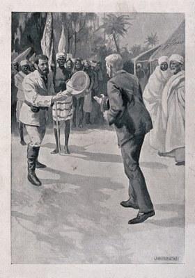 Das Treffen David Livingstones und Henry Morton Stanleys