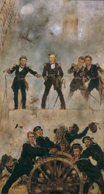 Admiral Tegetthoff in der Seeschlacht bei Lissa II IMG