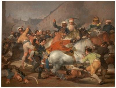 """Francisco de Goya (1746–1828), Der Zweite Mai 1808 oder """"Die Anklage der Mamelucken"""", 1814"""