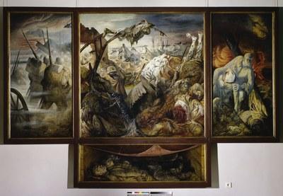 Otto Dix (1891–1969), Der Krieg (Tryptichon), 1929–1932
