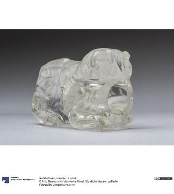 Löwengefäß aus Bergkristall, ca. 10./11. Jahrhundert