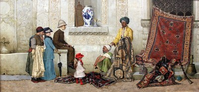 Osman Hamdi Bey (1842–1910), Türkische Straßenszene, 1888