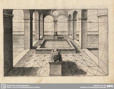 Hans Vredeman de Vries (1527–1604), Perspektivzeichnung, 1605 IMG