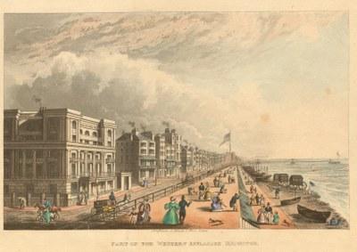 Ansicht der westlichen Esplanade, Brighton IMG