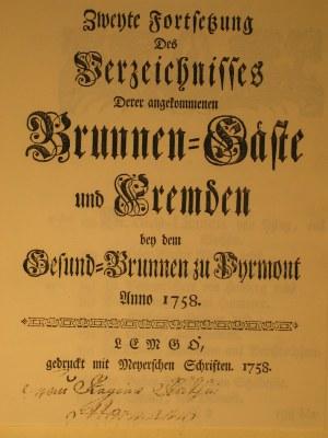 Brunnengäste und Fremden bei dem Gesundbrunnen zu Pyrmont 1758 IMG