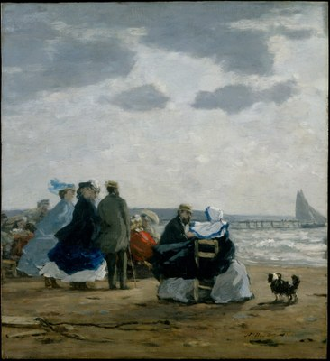 Eugène Boudin, Am Strand von Dieppe, 1864 IMG