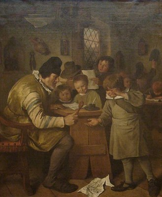 Jan Steen (1626–1679), The Village School, oil on canvas, ca. 1663/1665; source: © The National Gallery of Ireland, Dublin.