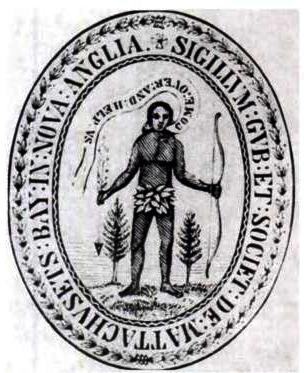 Siegel der Massachusetts Bay Colony, 1629, unbekannter Künstler, Bildquelle: Wikimedia Commons, http://commons.wikimedia.org/wiki/File:1629_seal_Massachusetts_Bay_Colony_MassachusettsArchives.png, gemeinfrei.