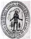 Siegel der Massachusetts Bay Colony, 1629, unbekannter Künstler, Bildquelle: Wikimedia Commons, http://commons.wikimedia.org/wiki/File:1629_seal_Massachusetts_Bay_Colony_MassachusettsArchives.png, gemeinfrei.