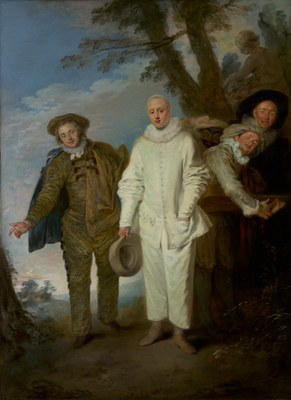 Jean-Antoine Watteau (1684 - 1721), The Italian Comedians, ca. 1720