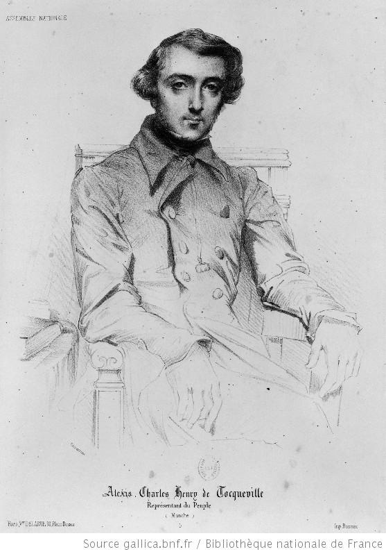 Théodore Chassériau (1819-1856), Portrait von Alexis Charles Henry de Toqueville (1805-1859), Zeichnung, 1848; Bildquelle: www.gallica.fr, Permalink: http://gallica.bnf.fr/ark:/12148/btv1b67003984.