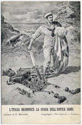 L'Italia brandisce la spada dell'antica roma IMG
