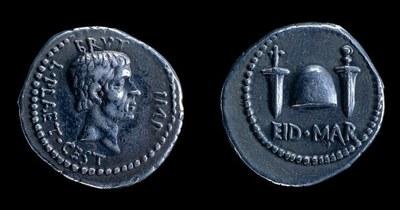 Silver denarius of Marcus Junius Brutus IMG